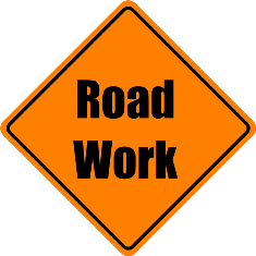 road-work sign