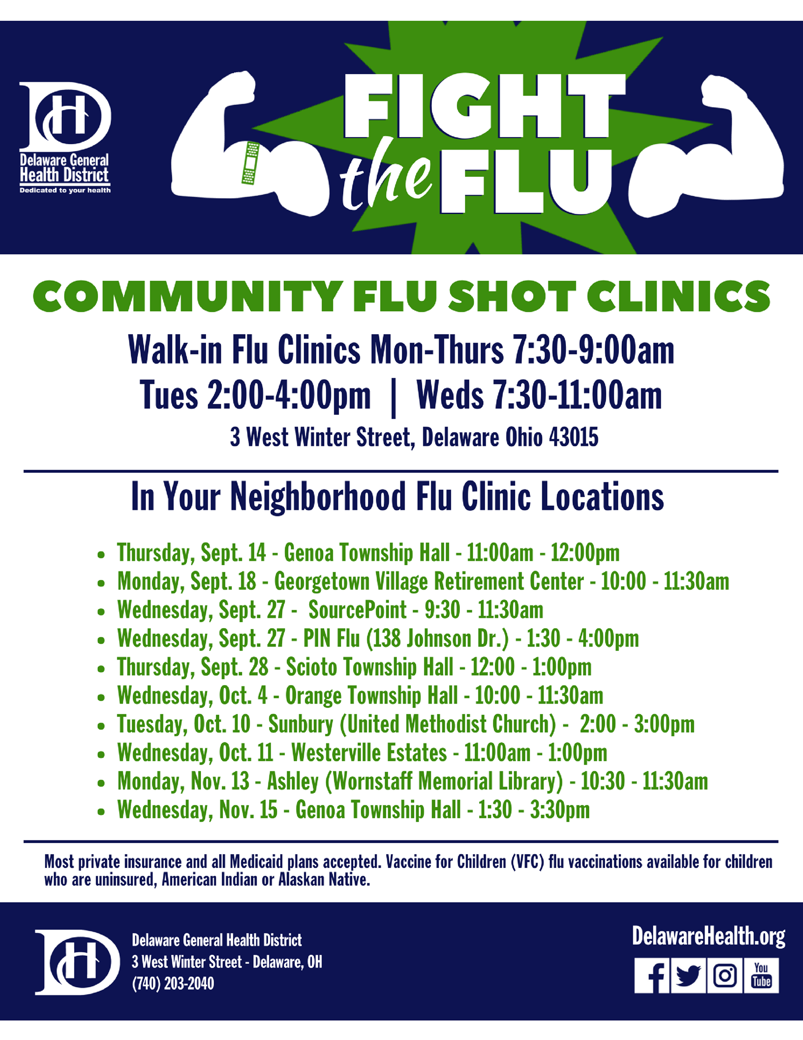 flu shot poster schedule