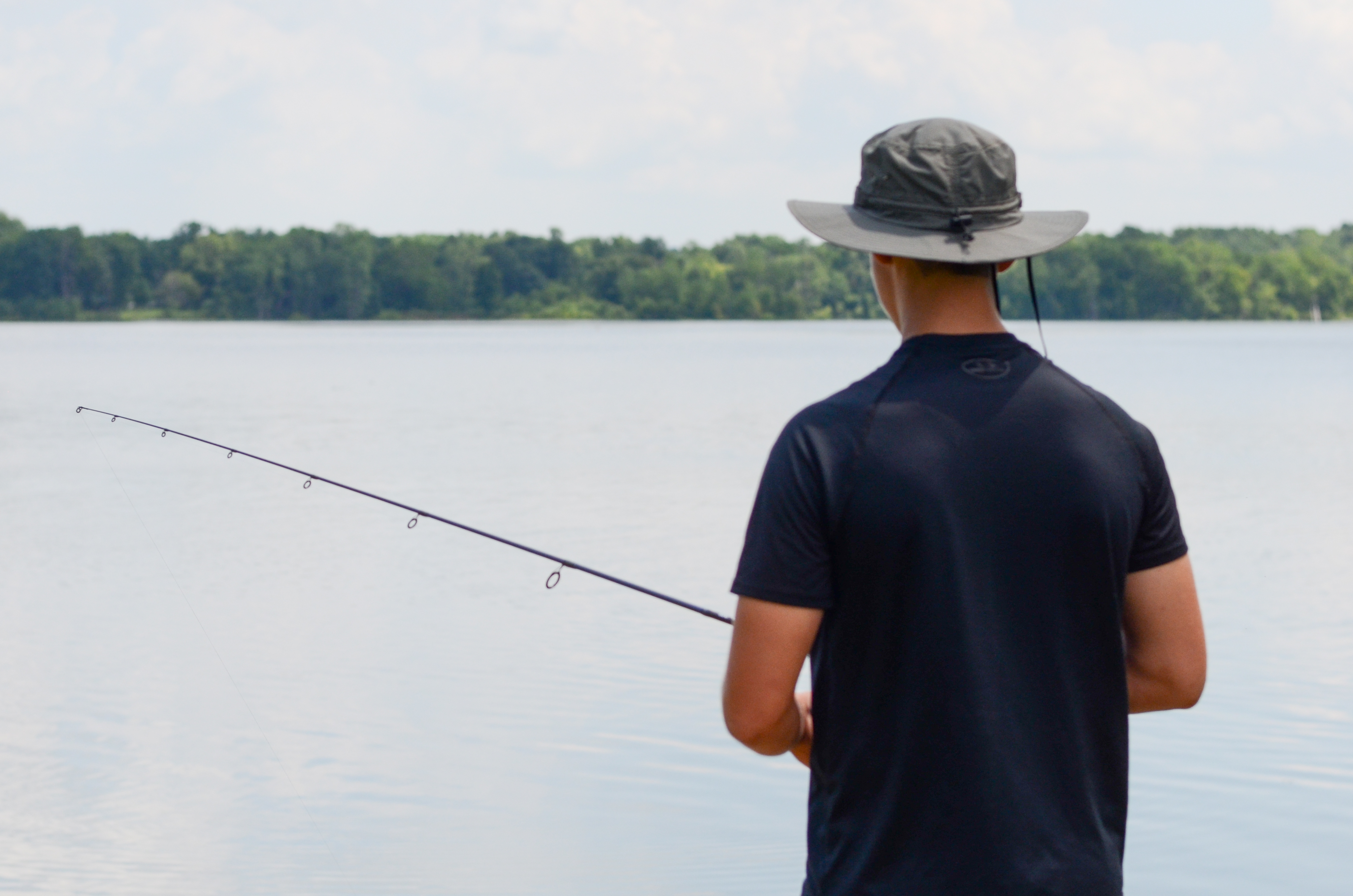 Fishing at Hoover Reservoir