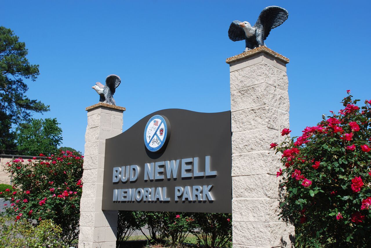 Bud Newell Park sign