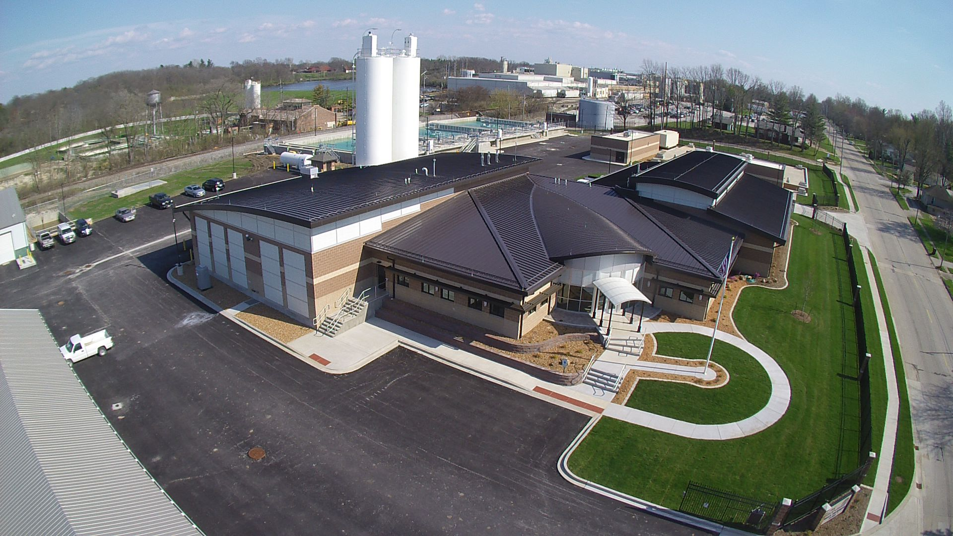 Aerial view of the new Water Treatment Plant