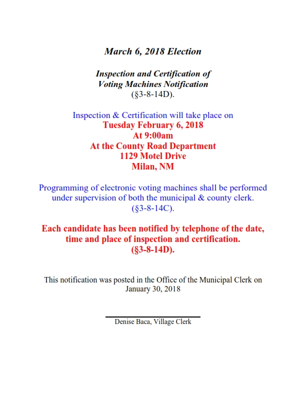 Inspection of voting machine notice_001