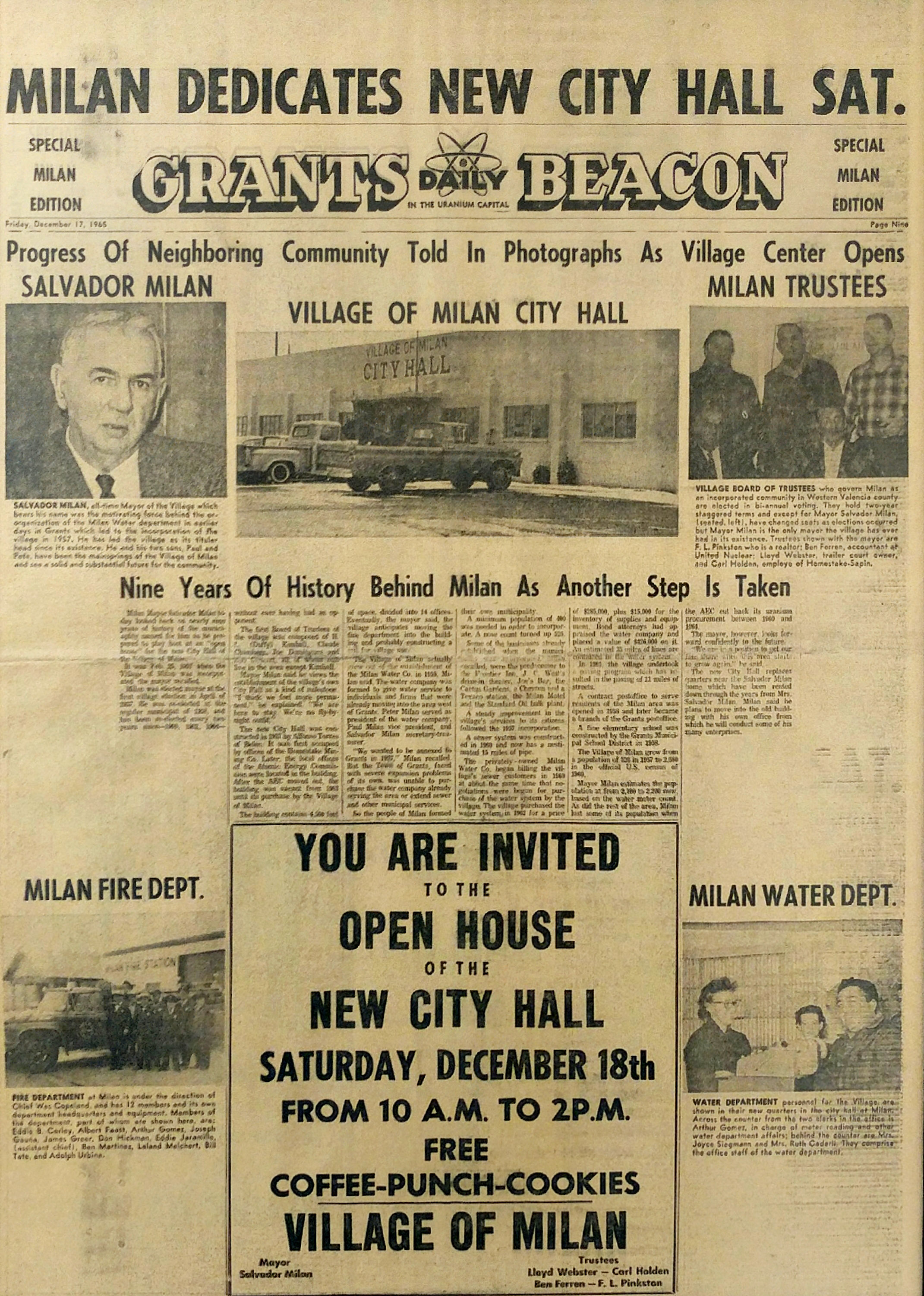 Newspaper Article 1965