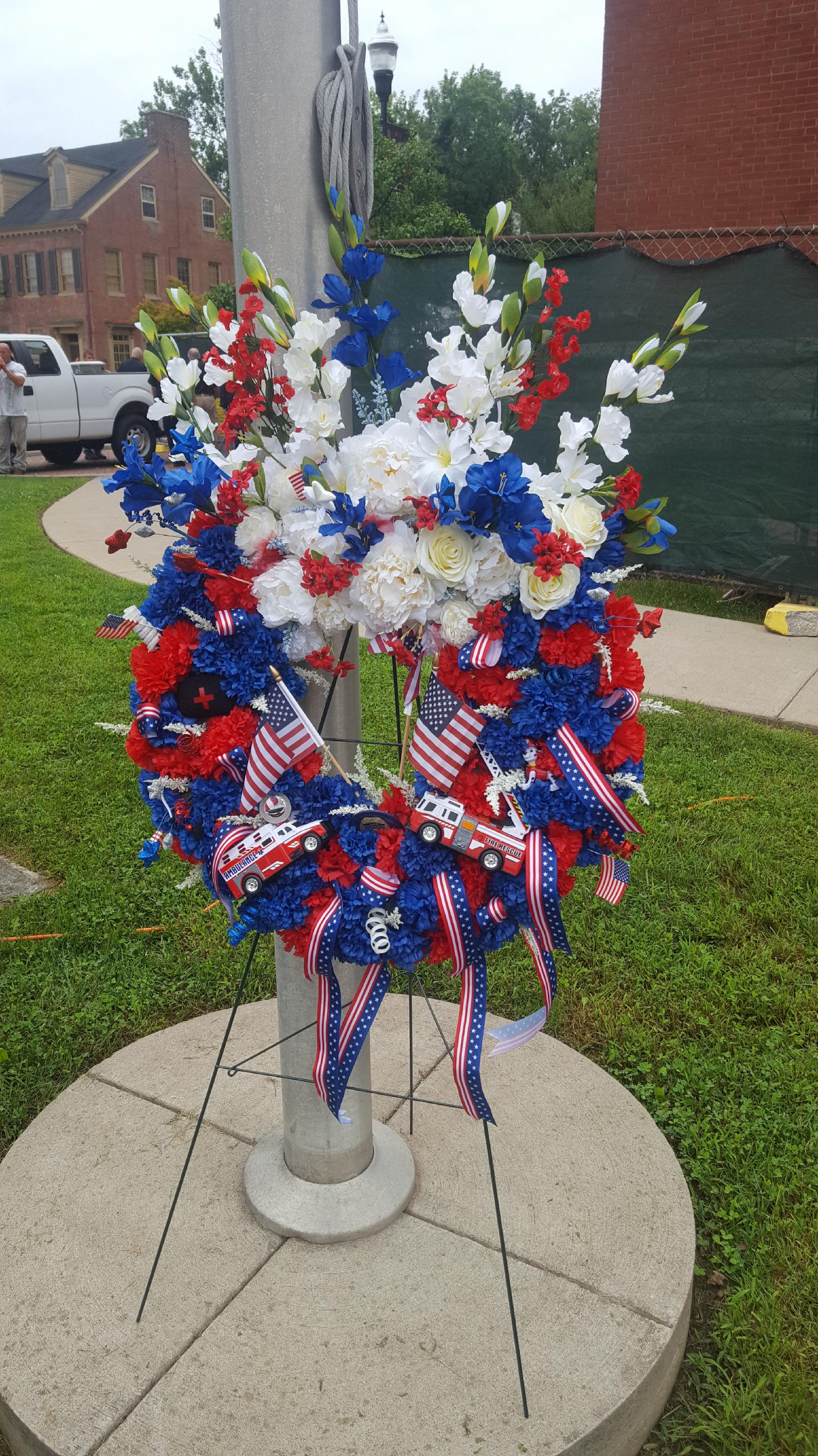 9/11 First Responders Wreath
