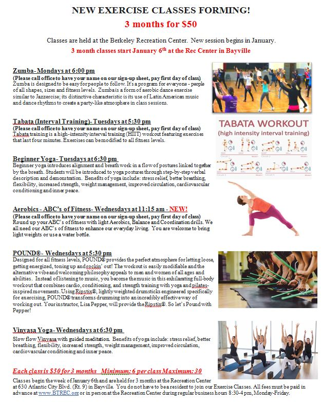 EXERCISE CLASSES SESSION 6