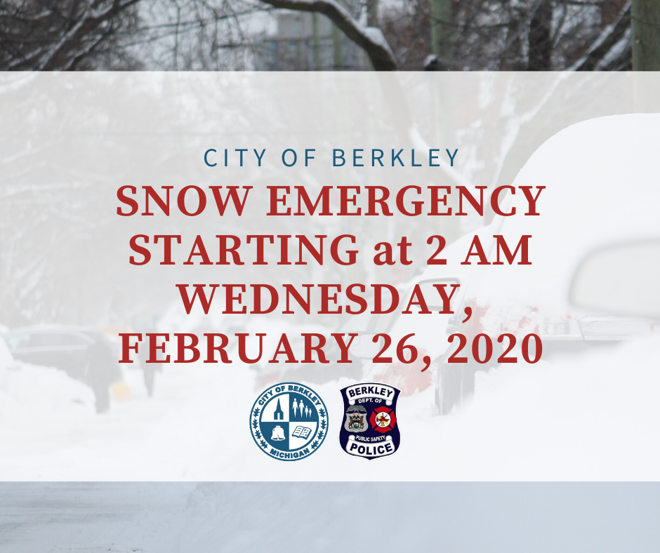 Snow Emergencies for Wednesday Feb. 26