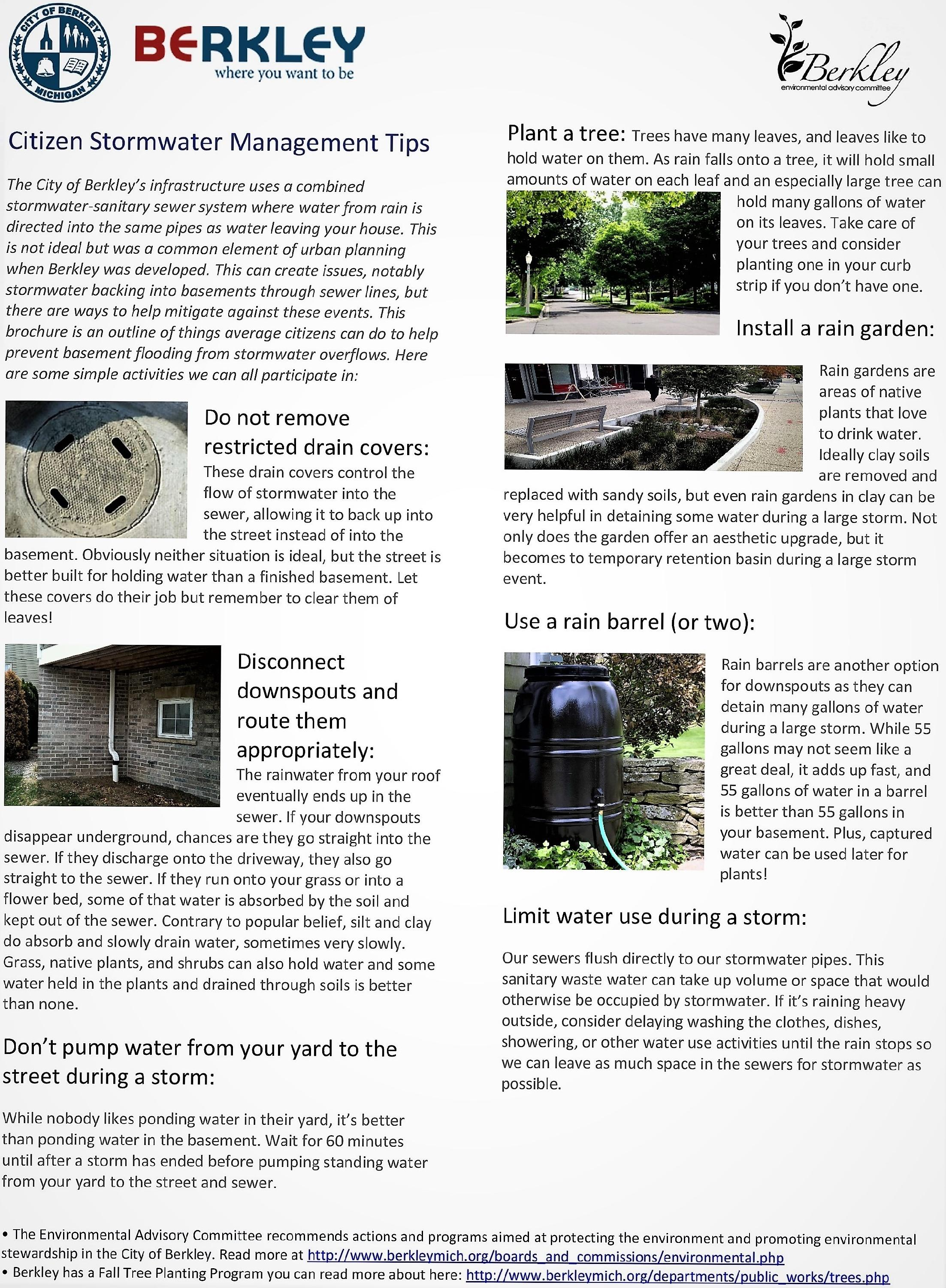 Stormwater Management Tips