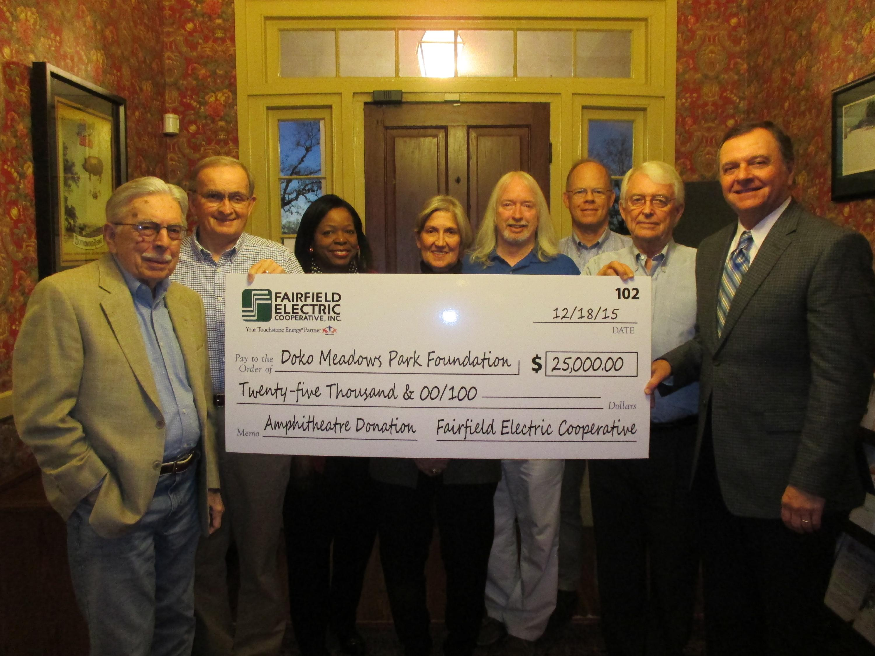 DMPF Fairfield Electric check presentation