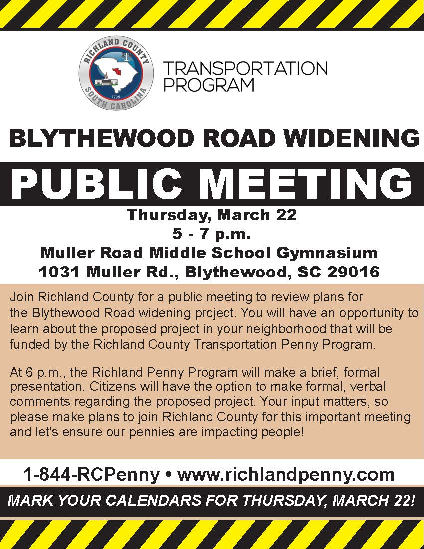 Blythewood Road Widening flyer 02222018 2