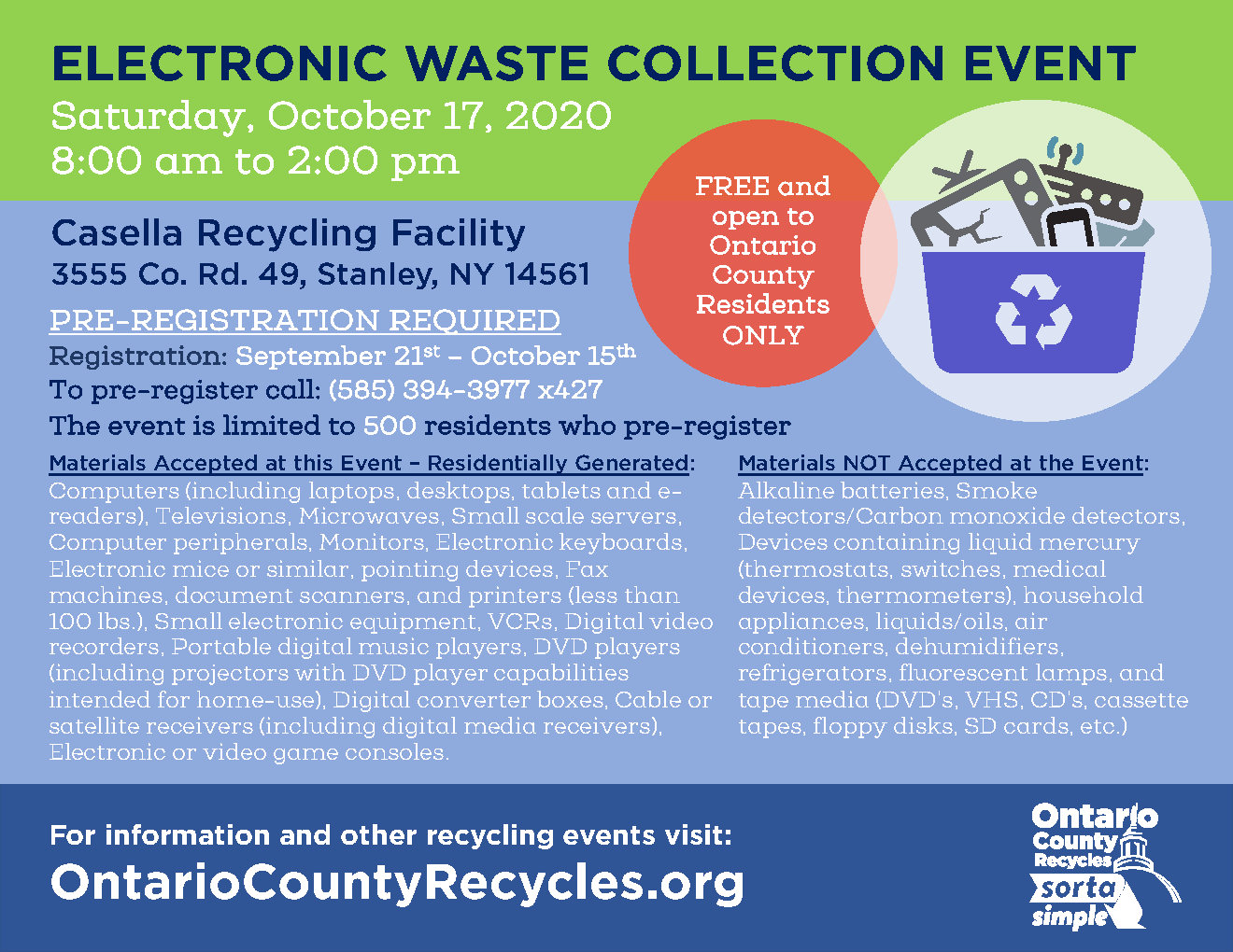 20.09.19 E-Waste Event flyer - ad October 2020