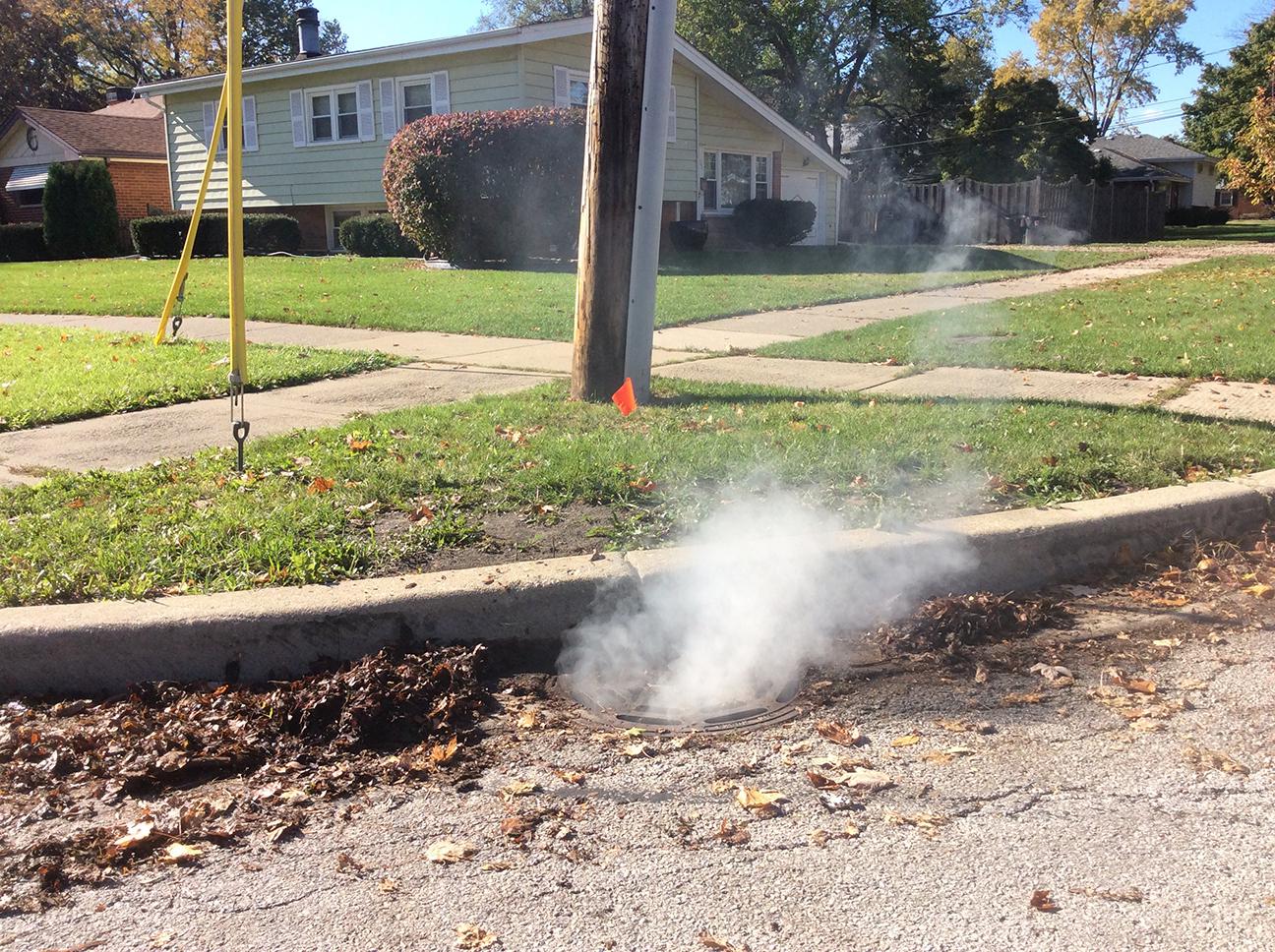 sanitary sewer smoke testing