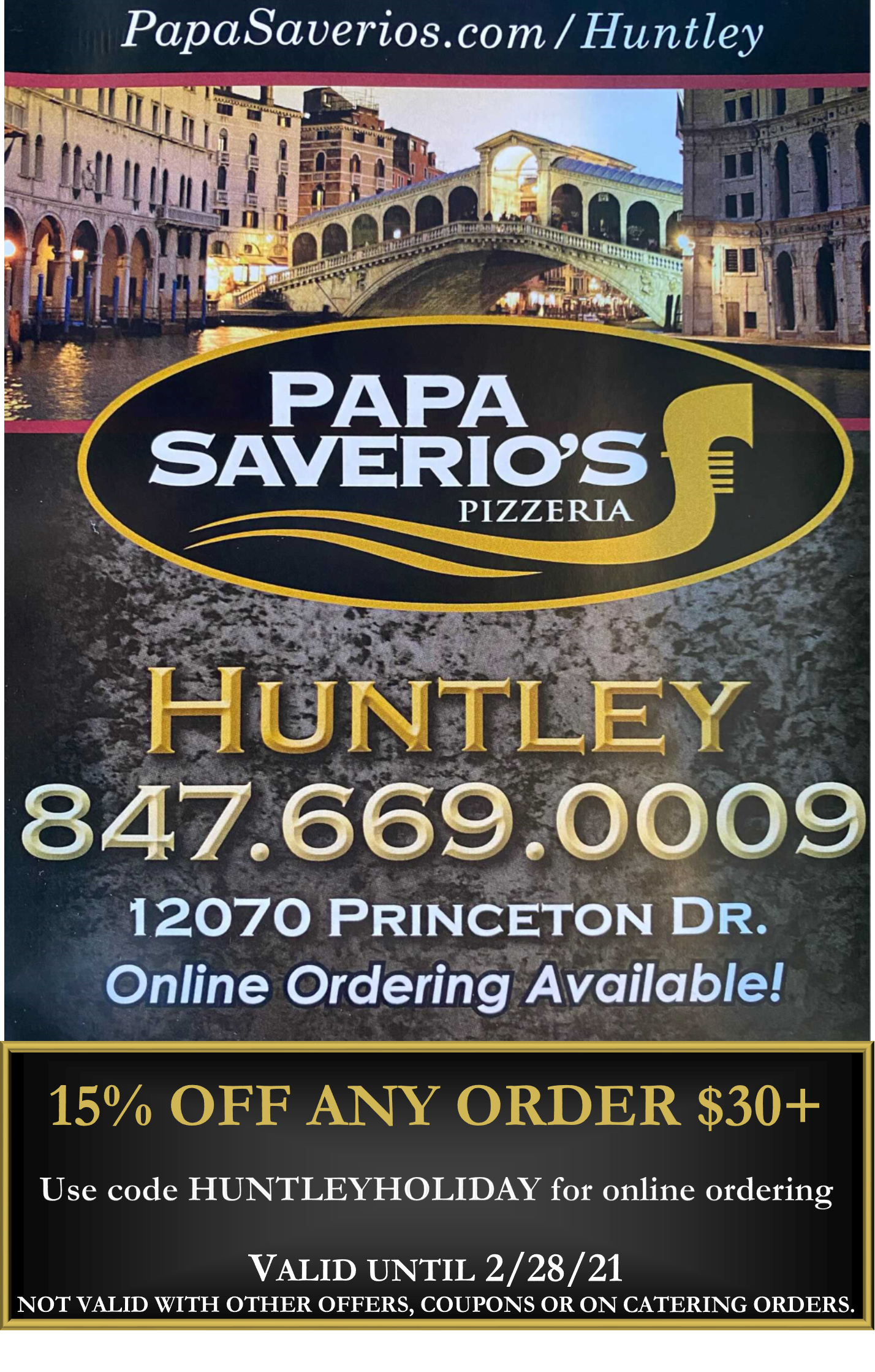 papa saverios coupon