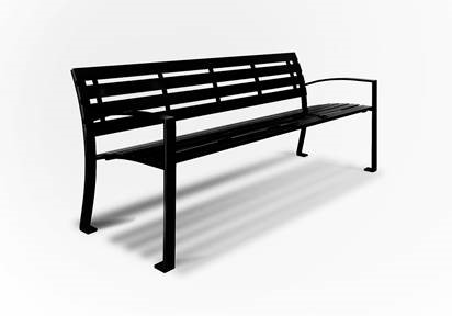 Black Metal Bench
