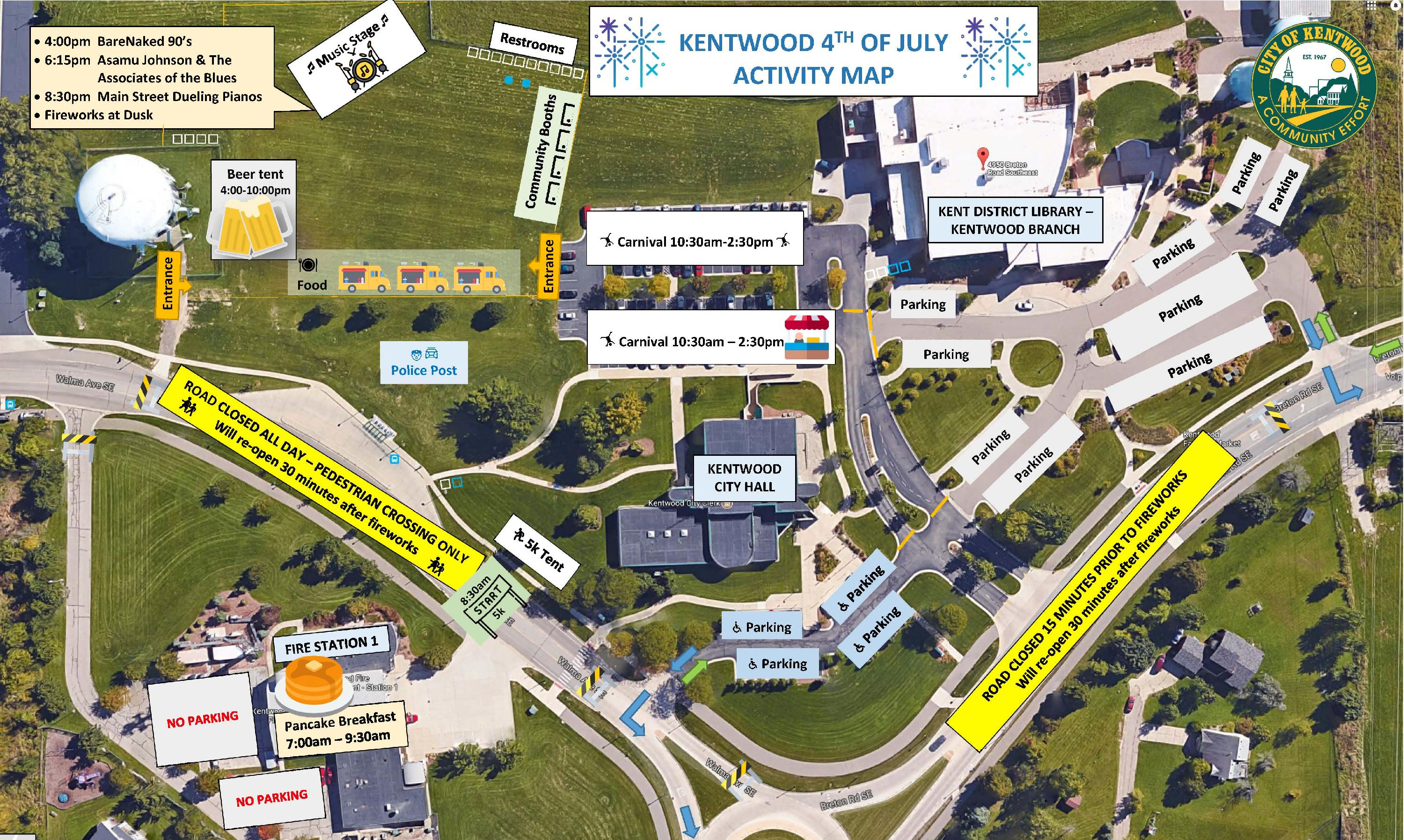 July 4 2019 Kentwood Map