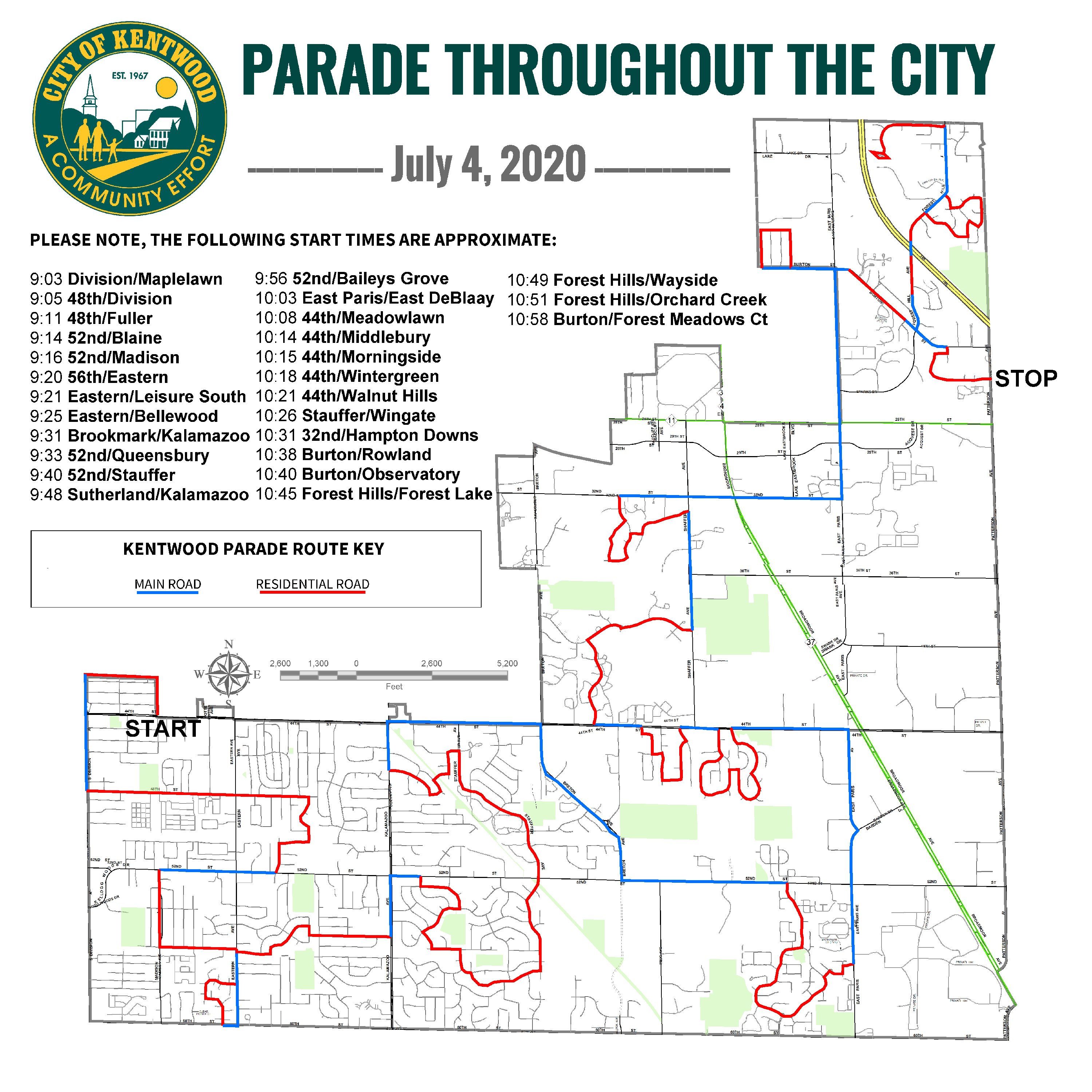 July 4 Parade Map