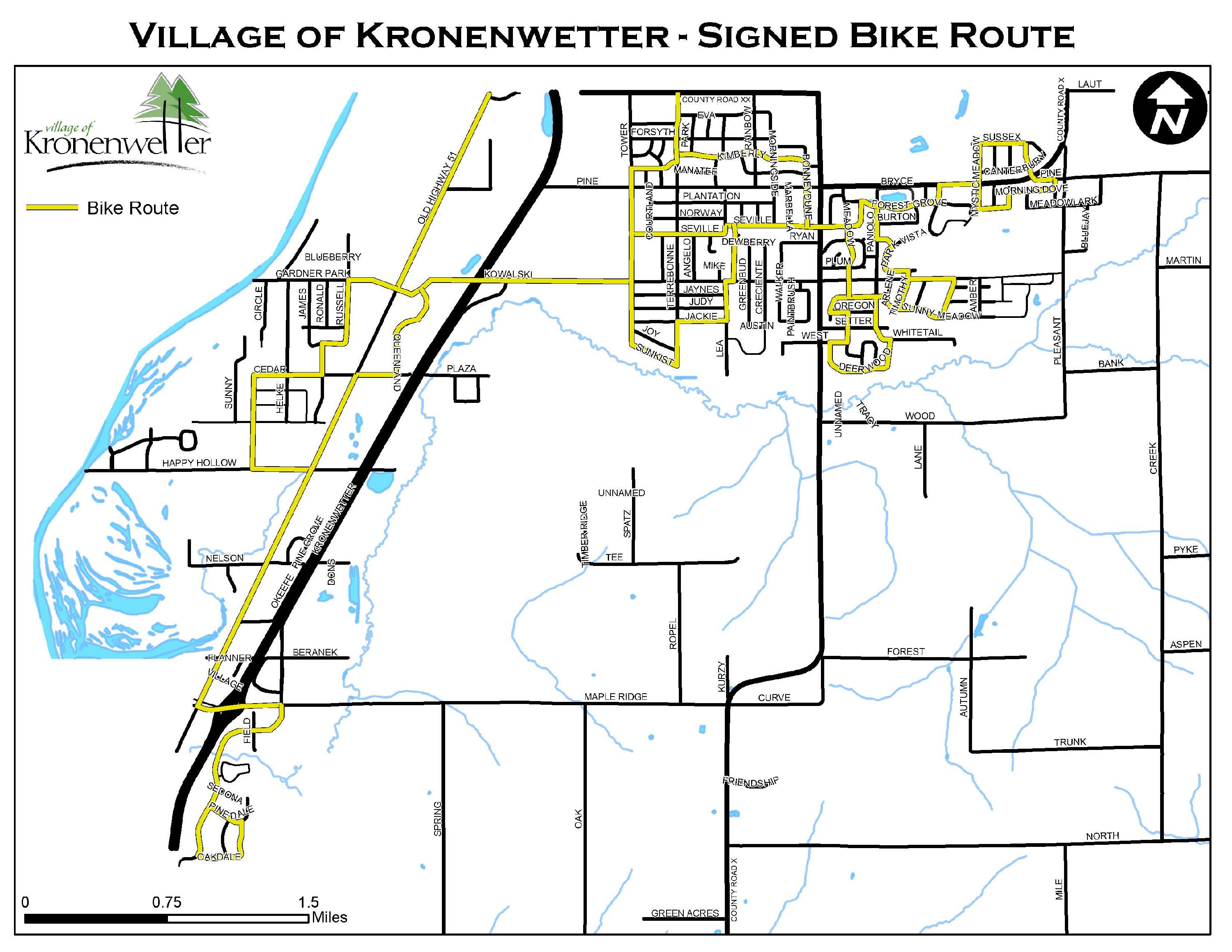 Village of Kronenwetter Bike Routes