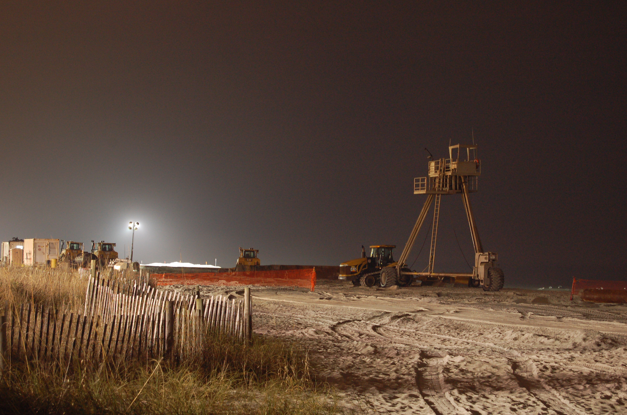 Beach Renourishment 2008 Nighttime
