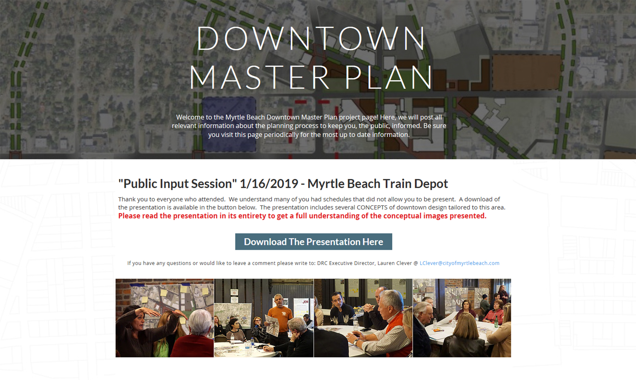 Downtown Master Plan Site