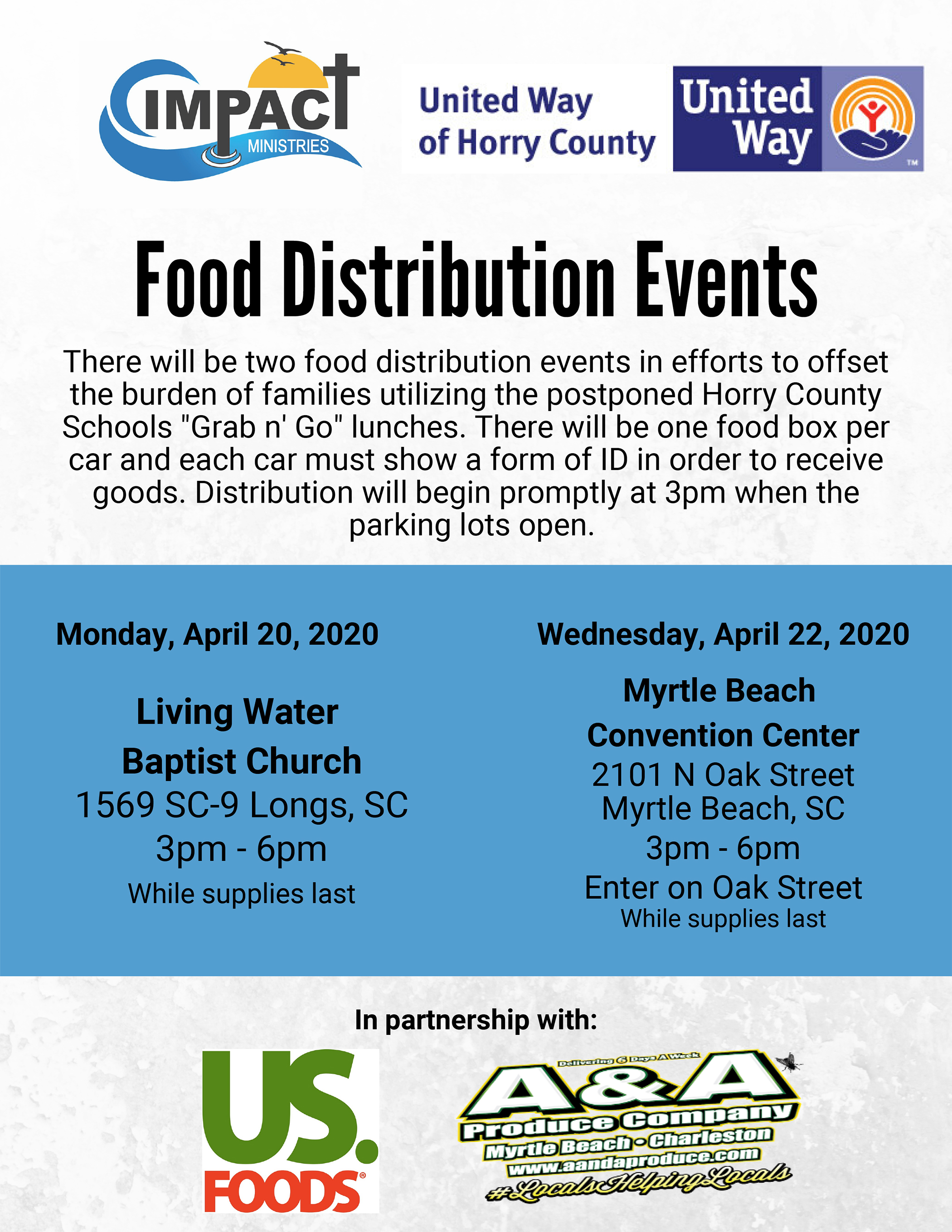 Food Distribution Events April 2020
