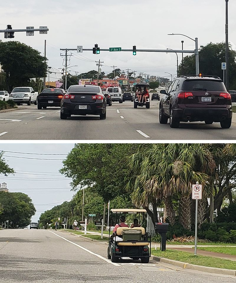Golf Carts on Kings Highway