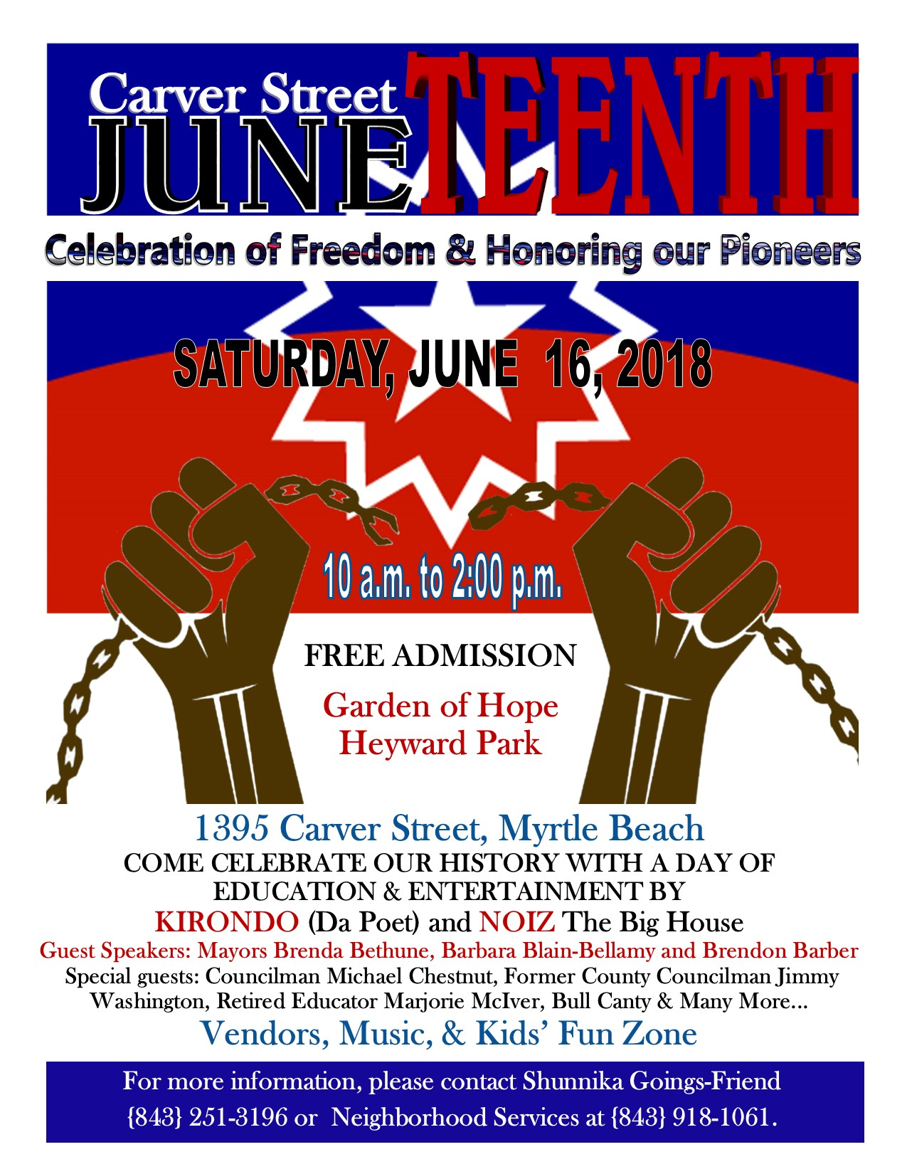 Juneteenth 2018 Update