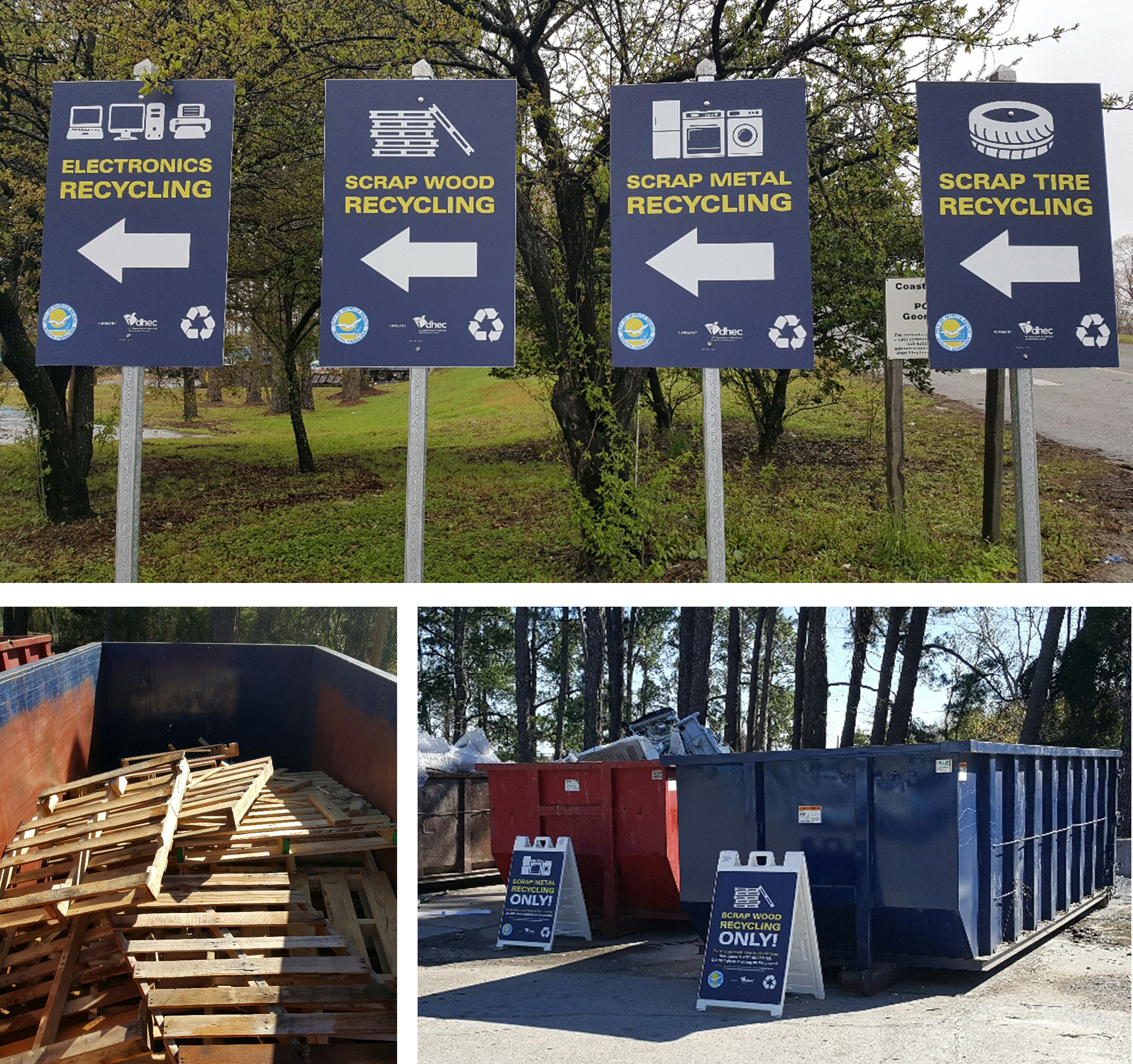 New Recycling Containers at Transfer Station