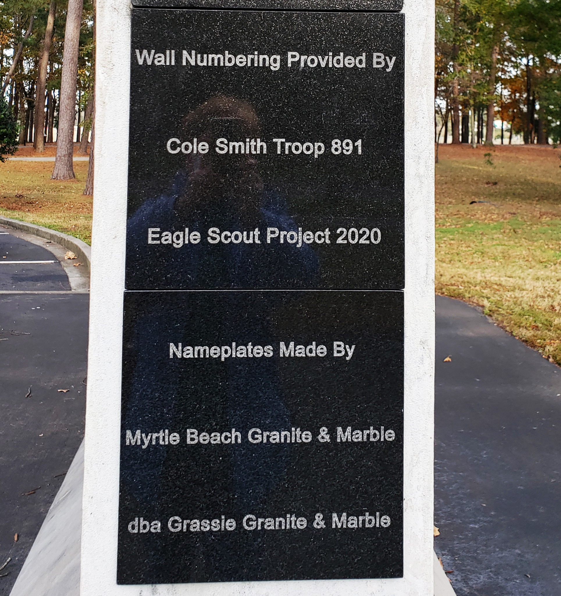 Wall of Service New Plaques
