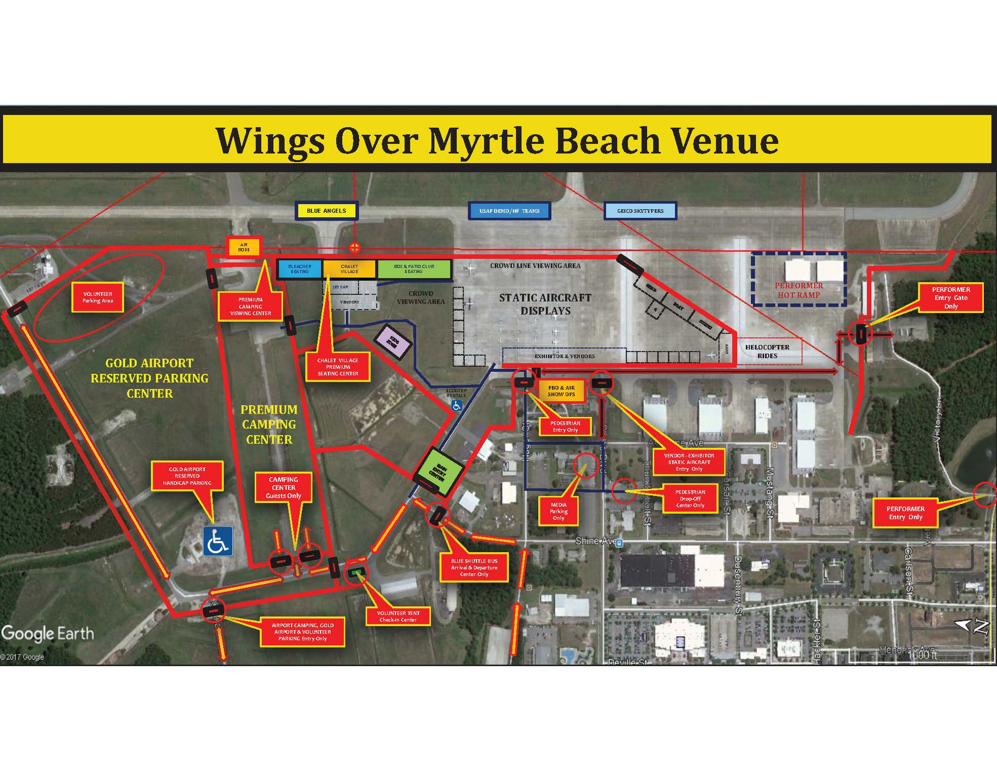 Wings Over Myrtle Beach Site Map (2) 2018