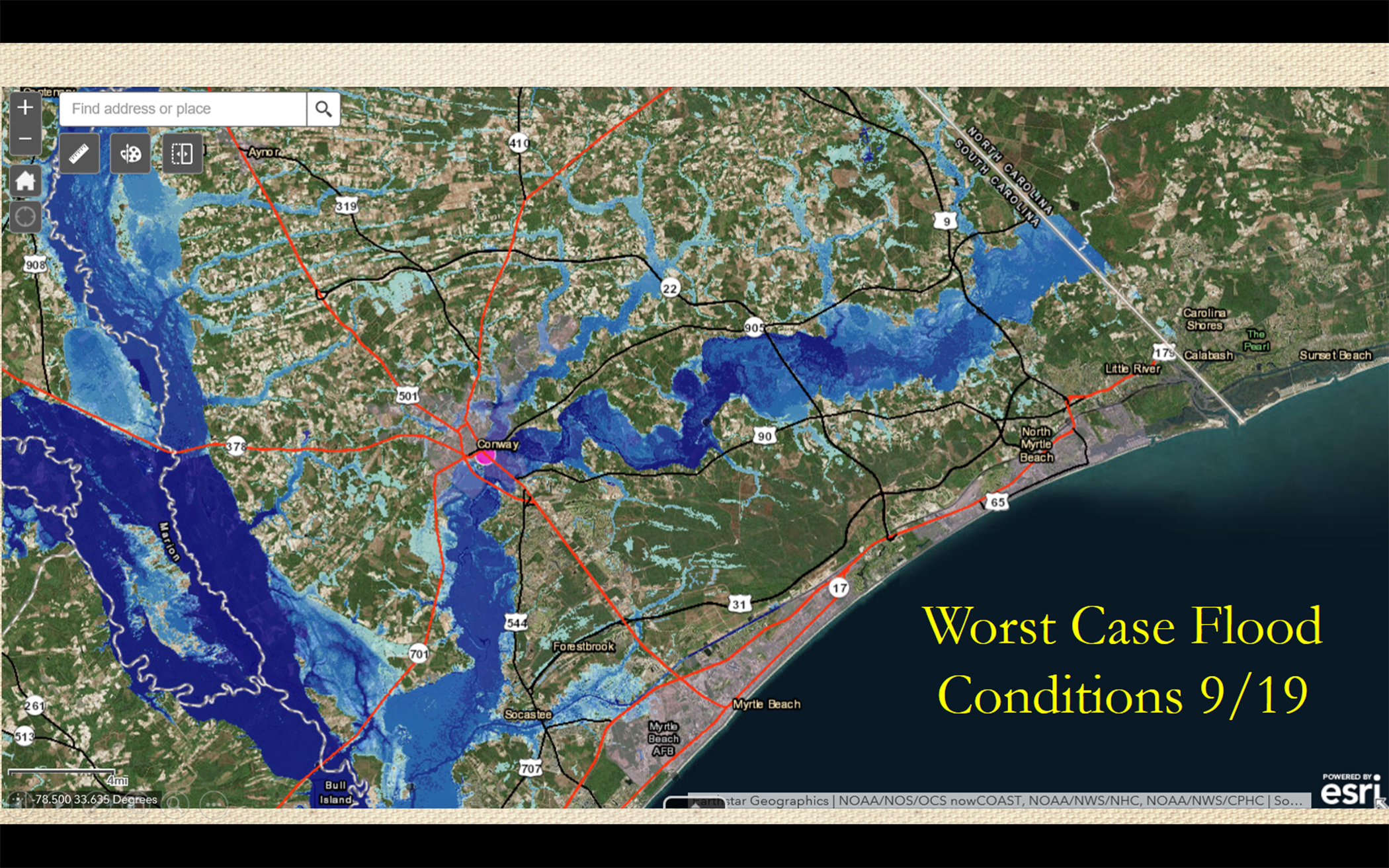 Worst Case Flood Map Florence