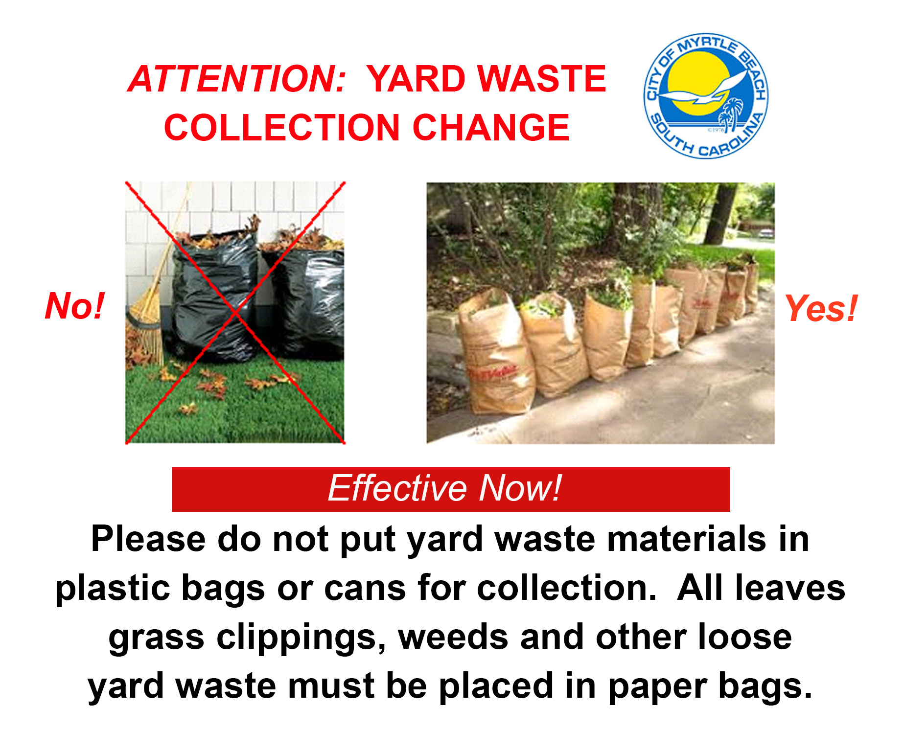 Yard Waste Post for 121318