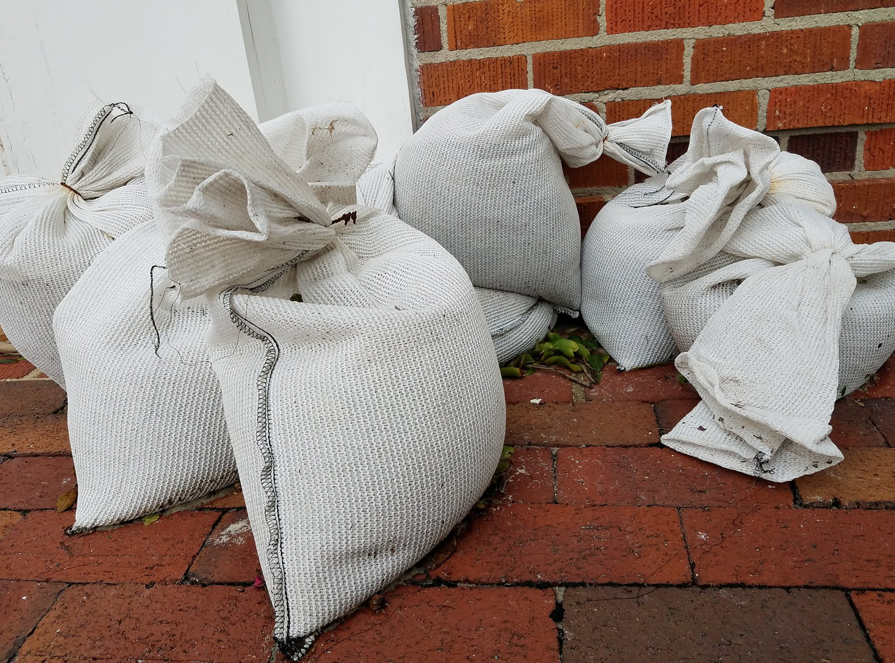 sandbag on porch