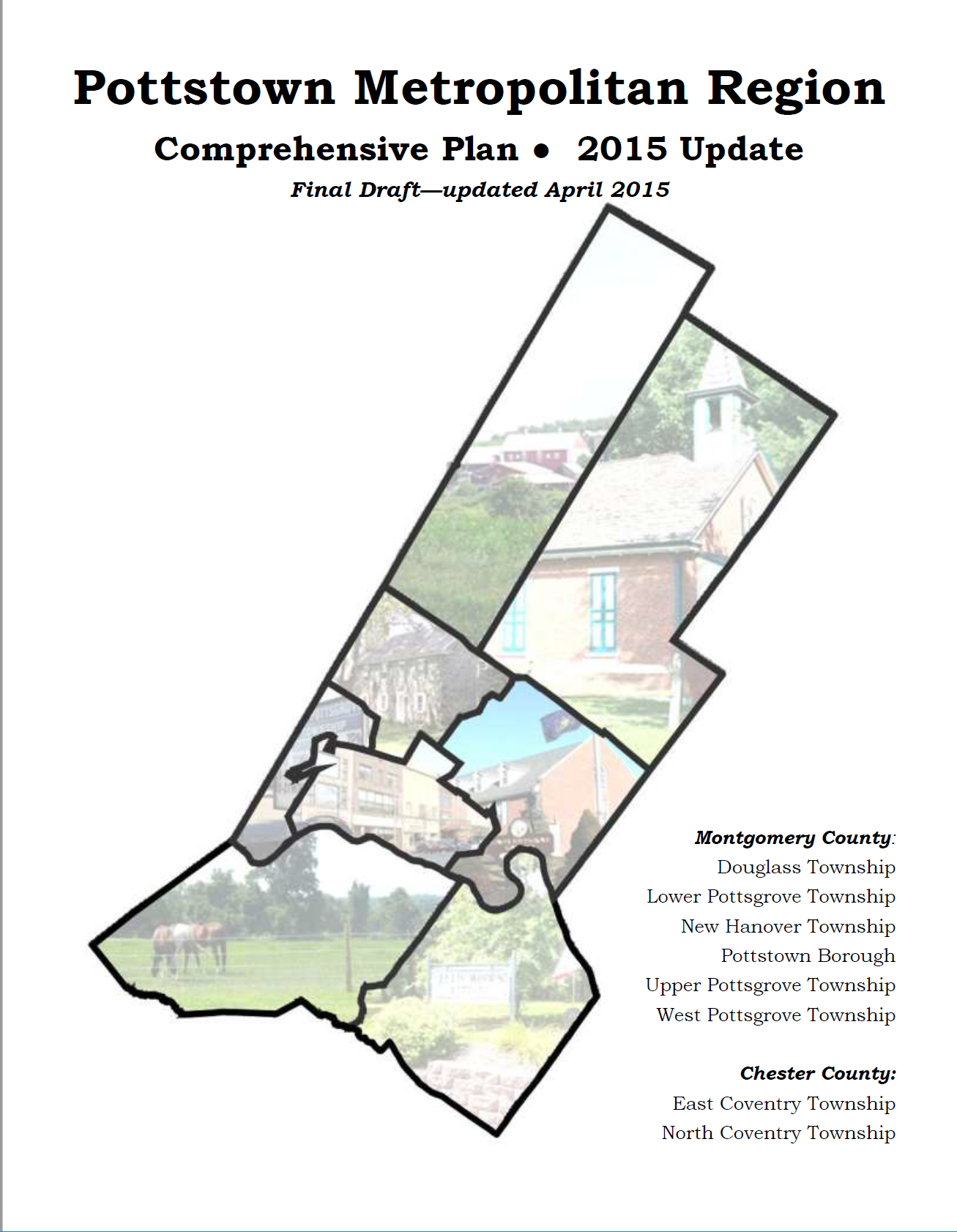 Pottstown Metropolitian Region Comprehensive Plan Cover
