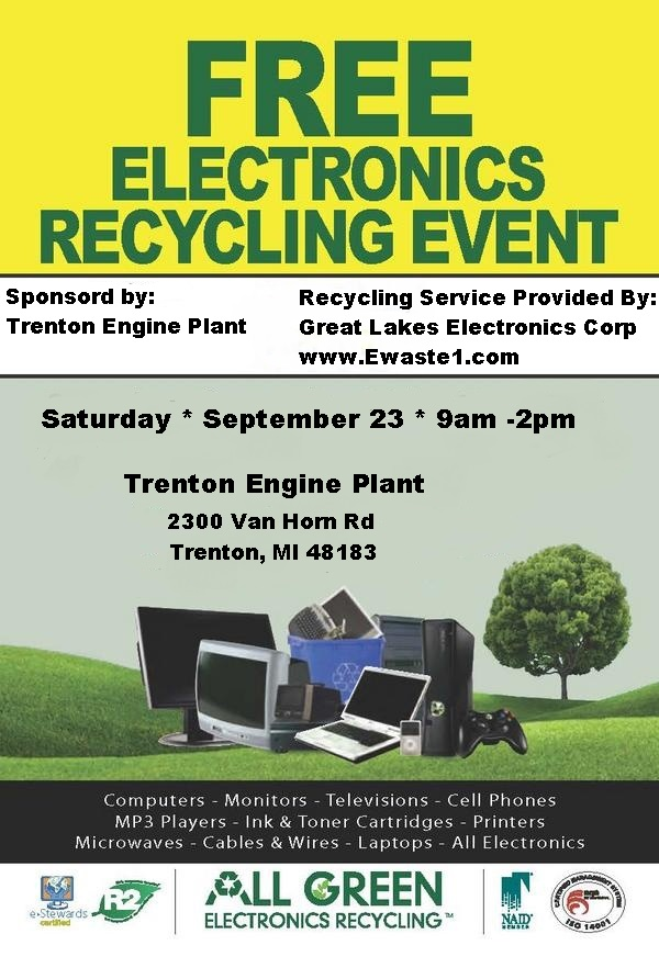 Sept 23, 2017 electronic recycling