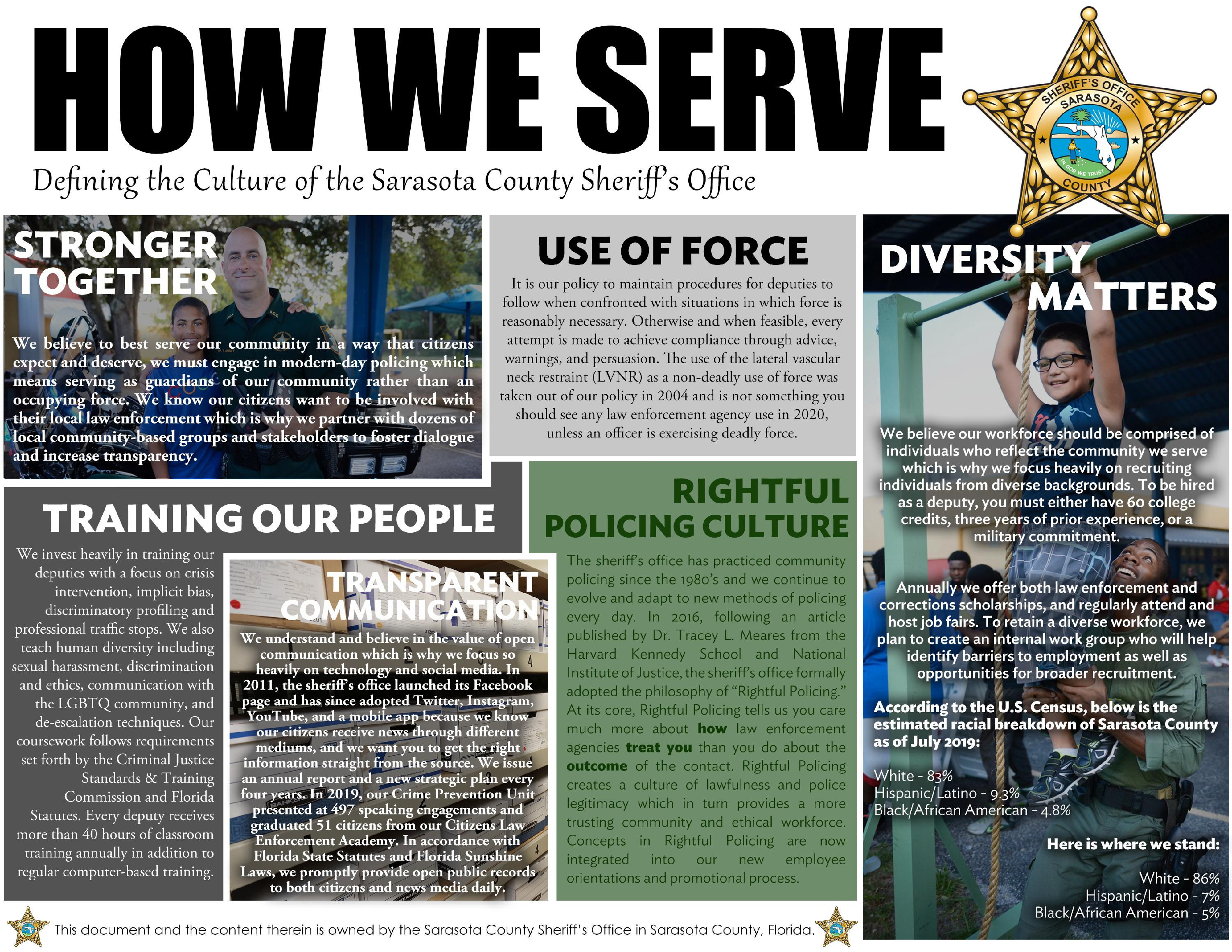 How We Serve Defining the Culture of SCSO FRONT Final 6-15