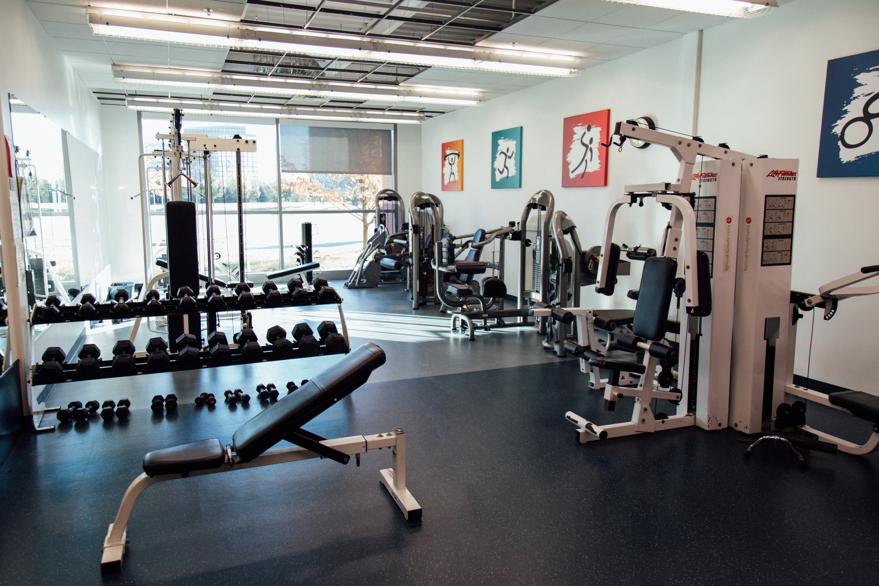 Fitness room gymnasium