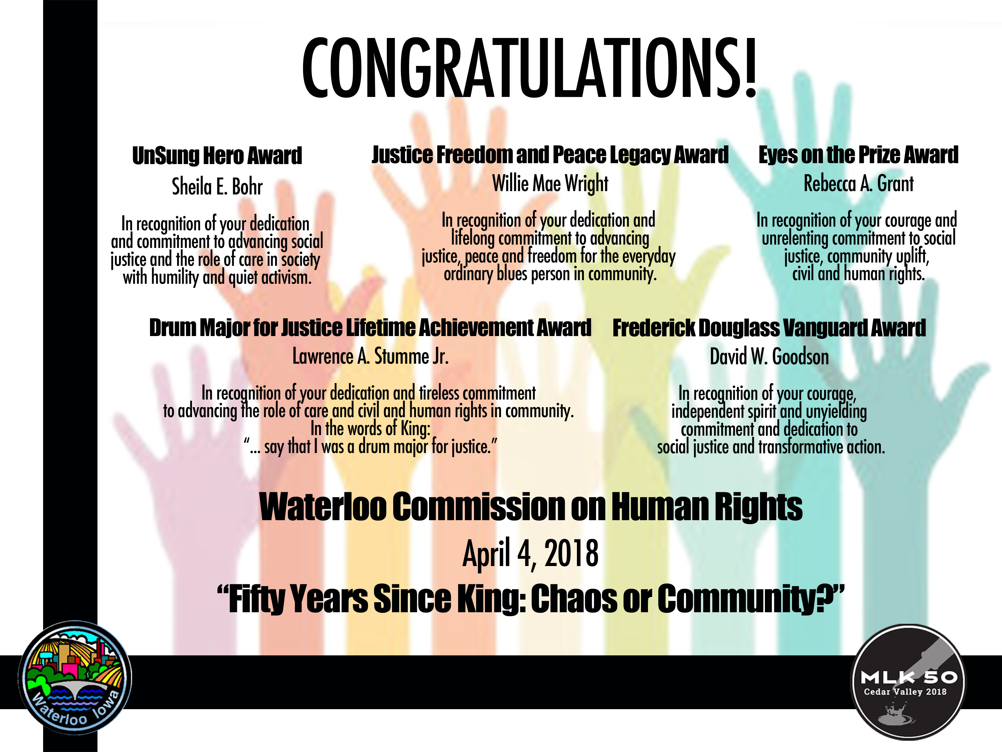 HUMAN RIGHTS AWARDS FLYER
