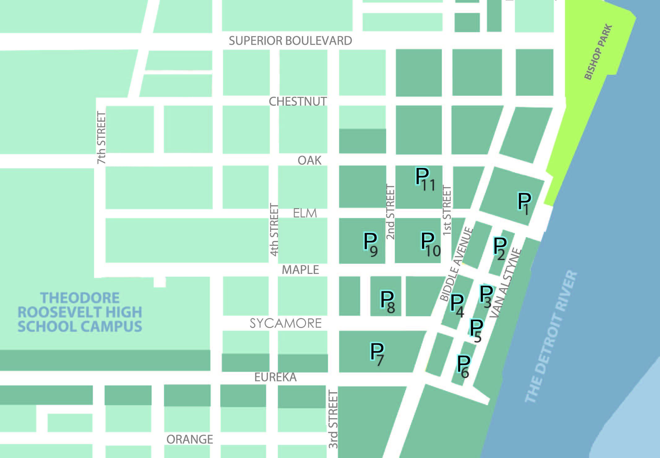 Downtown Parking map 2019
