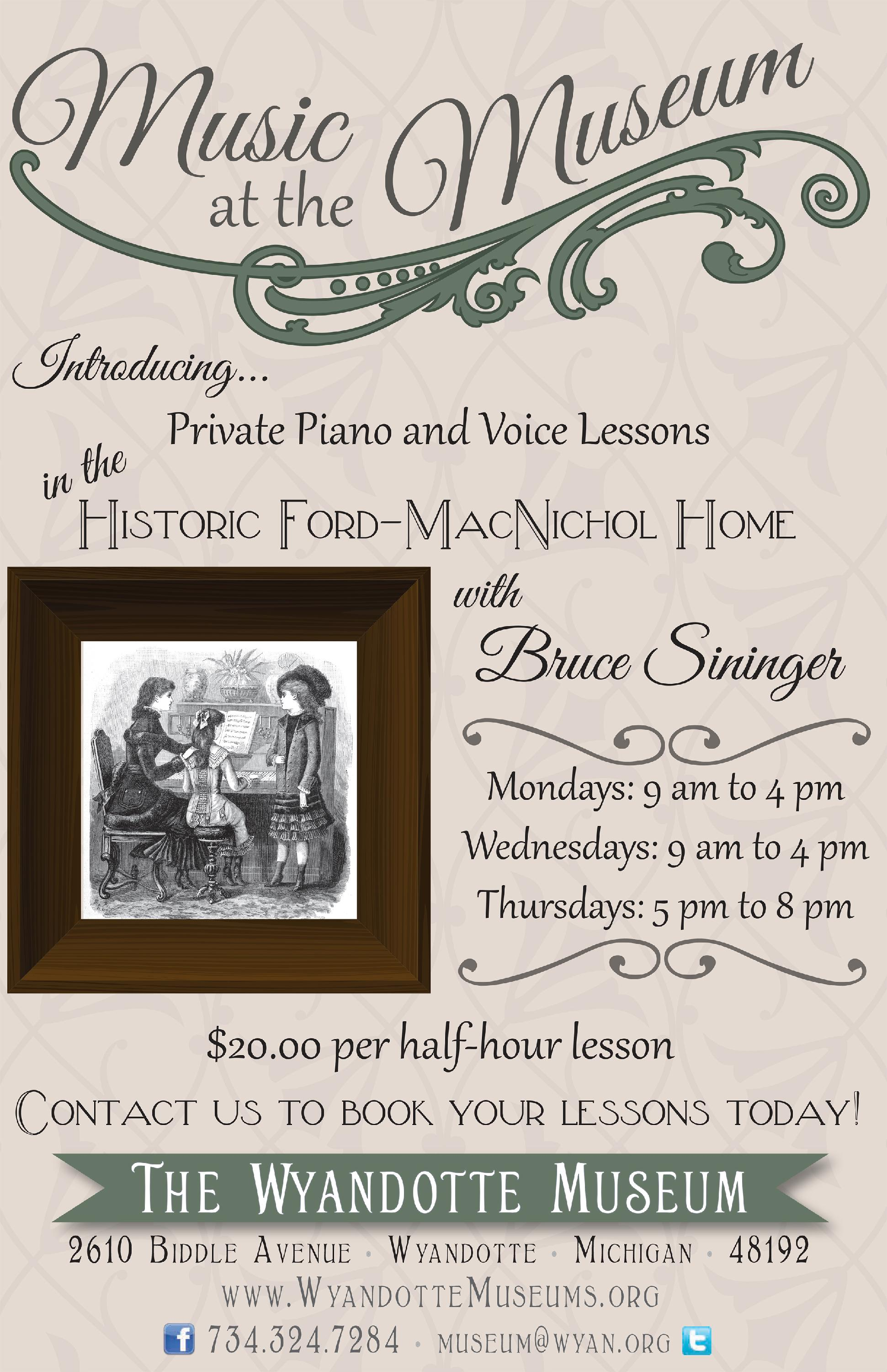 Wyandotte Museum News Brief - Music at the Museum